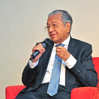 The Prime Minister of Malaysia, H.E. Tun Dr. Mahathir bin Mohamad, visiting IACA.